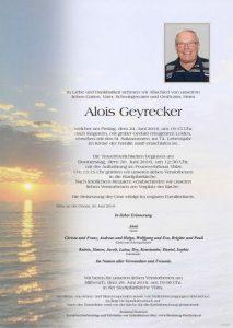 Abschied Alois Geyrecker