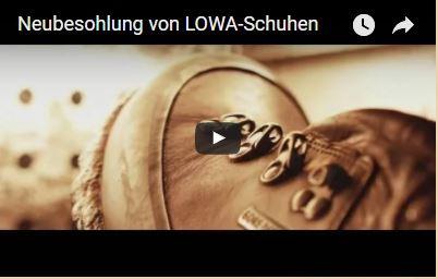 Neubesohlung von LOWA-Schuhen
