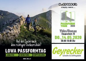 14. Mai 2020 LOWA Passformtag