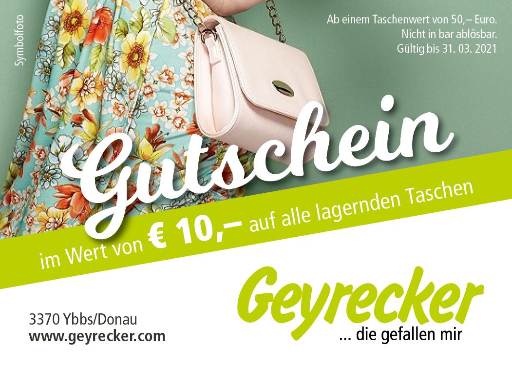 Gutschein über €10 auf alle lagernden Taschen